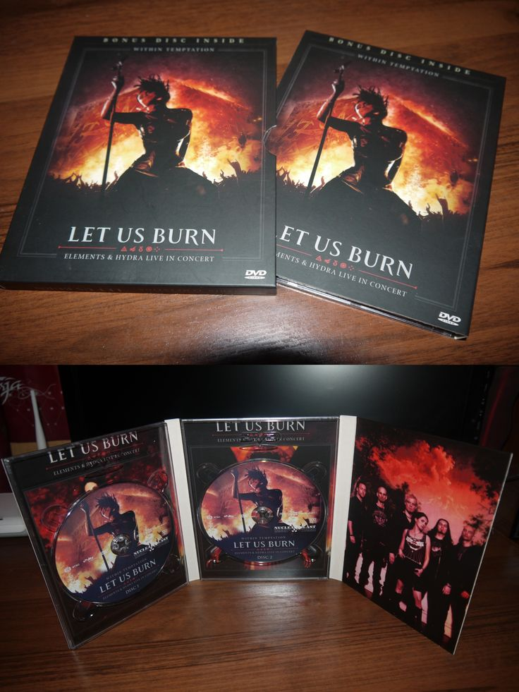 Within Temptation - Let us Burn ( DVD + Bonus DVD, Nuclear Blust) Russian copy,  2015