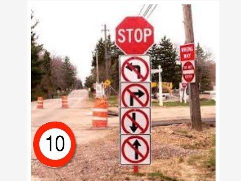 TOP 10 semne de circulate din Romania cu sub/neinteles!!!