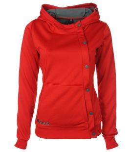 off centered button up hoodie LOVE