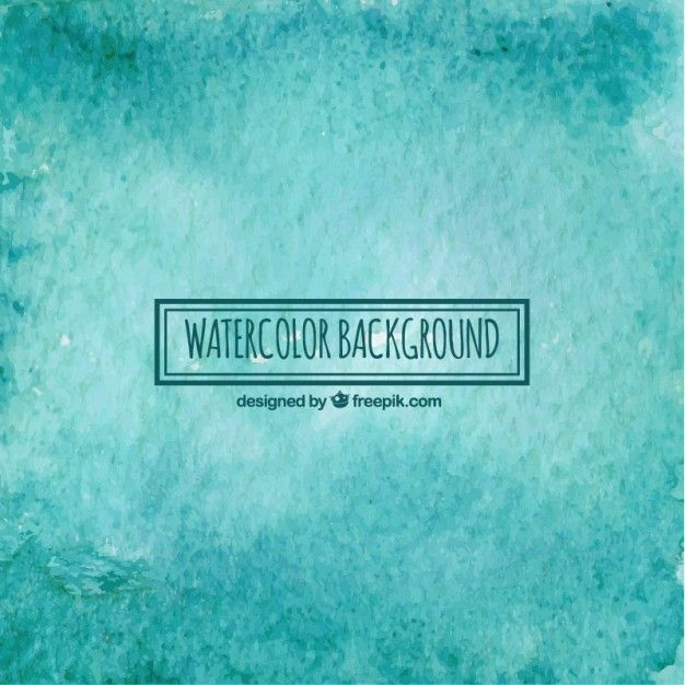 Free vector Turquoise watercolor background #34405