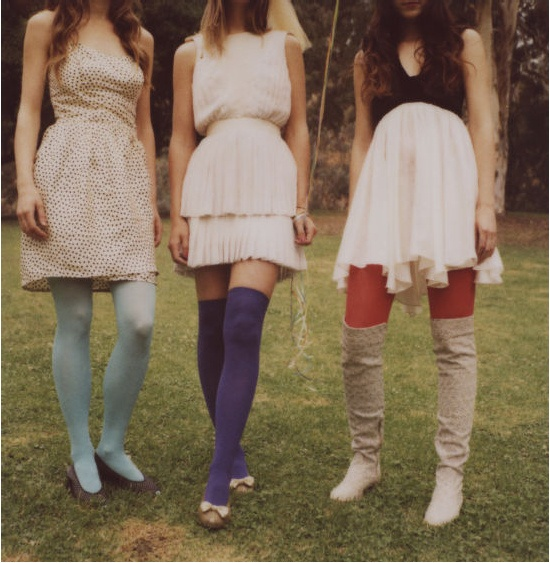 cobalt thigh highs: Accessories Socks, Tights Socks Oh, Colored Tights Knee Highs, Colorful Tights, Clothes, Dress, Pretty, Bight Socks Tights
