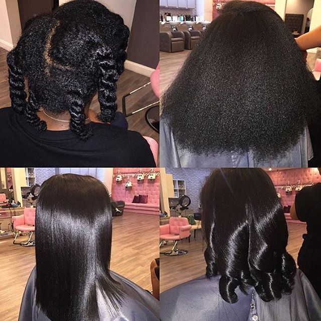 TRANSFORMATION TUESDAY| This #silkpress transformation  styled by #atlstylist @tre_ismyname  is beautiful❤️ So silky #voiceofhair