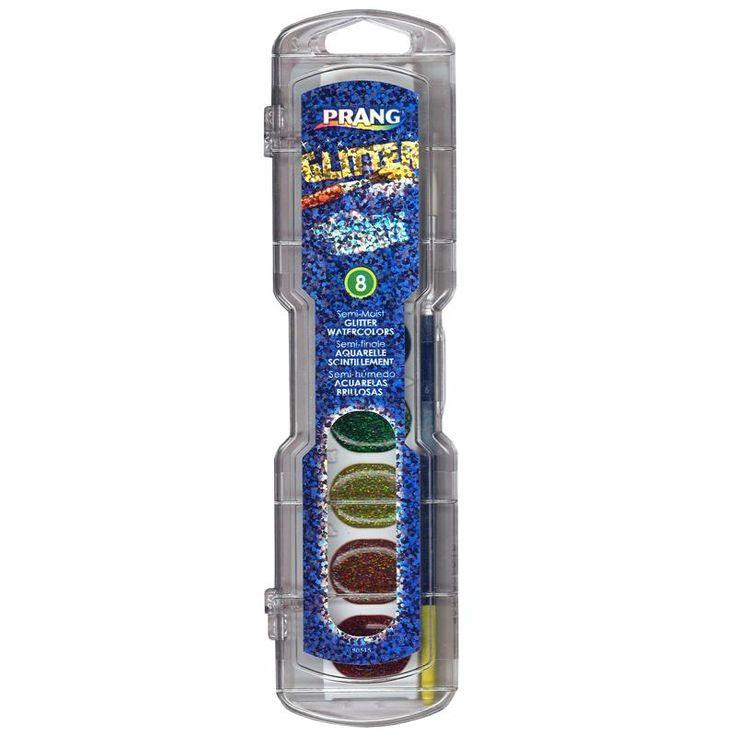 PRANG WATERCOLOR GLITTER COLOR 8 CT