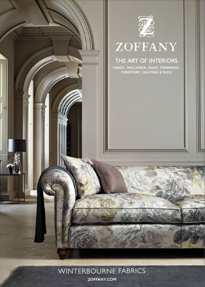 The Zoffany AW 2015 Winterbourne collection is the epitome of relaxed sophistication. The successful mineral palette of previous launches prevails, augmented with seasonal accents of deep charcoal, teal and ink blues.