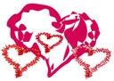 Large heart   Stock Image