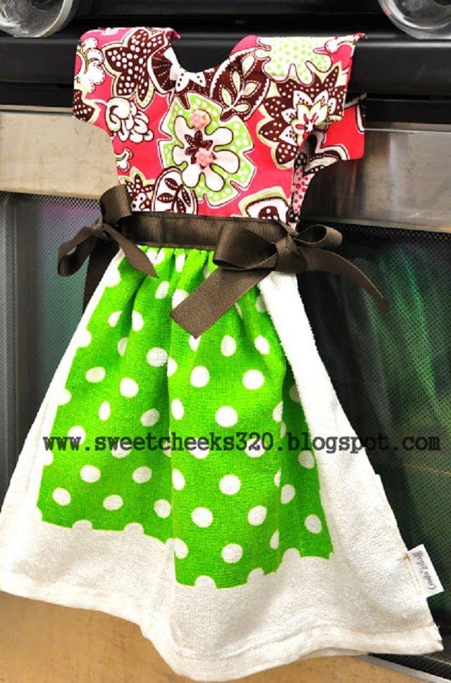 Toalla de cocina en forma de vestido | Ideas para Decoracion