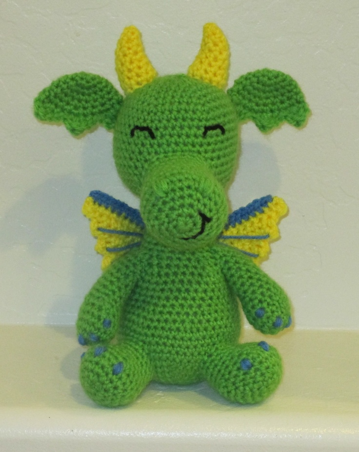 Dante the Dragon  Handmade Crochet Animal by KuddlesAndKritters, $30.00
