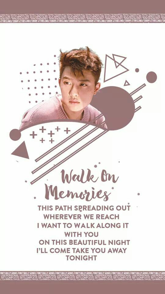 EXO COMEBACK 2017 WALLPAPER | #EXO #COMEBACK #July2017 | D.O. Wallpaper | #디오 #경수 #엑소 #lyrics #Walk On Memories cre: HDHE
