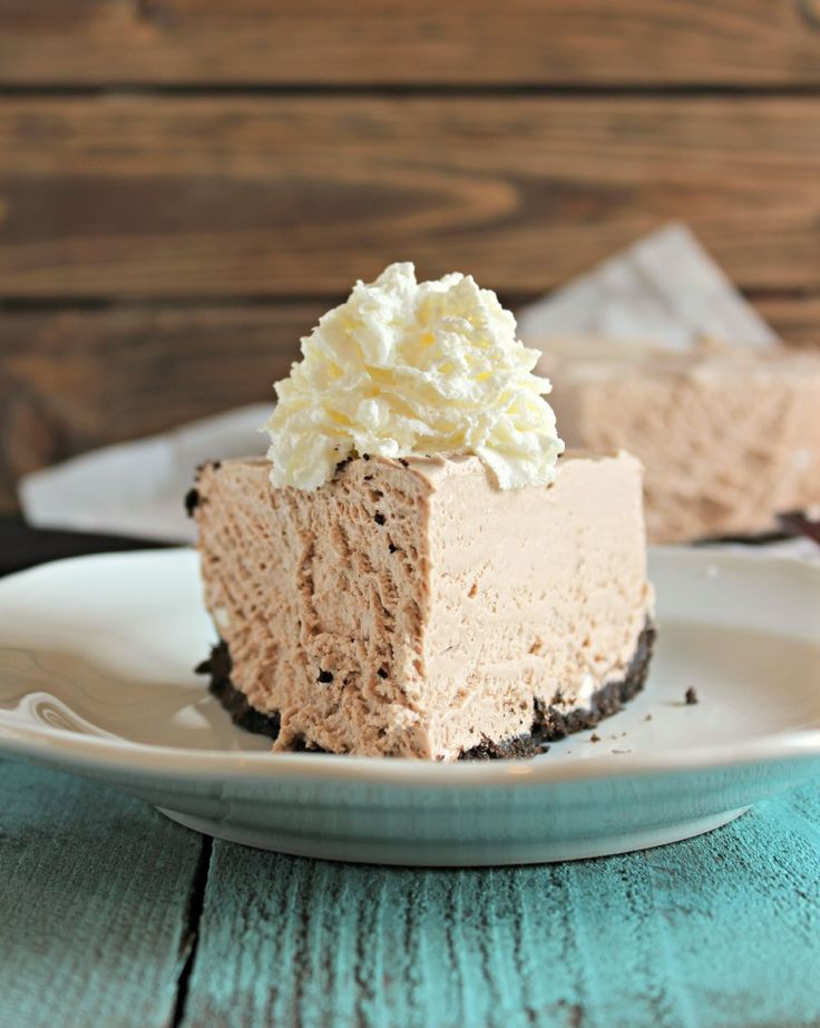 Frozen Hot Chocolate Cheesecake | Chelsea's Messy Apron