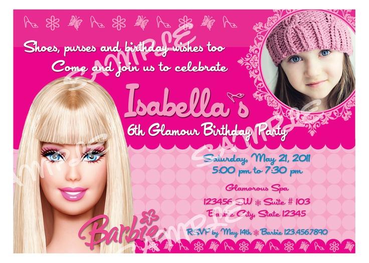 Best 25 Barbie birthday invitations ideas on Pinterest Barbie