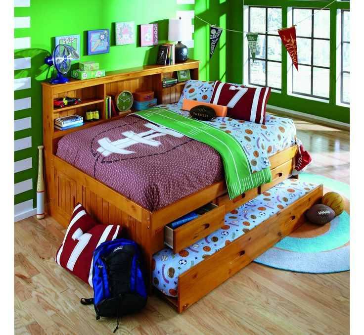 17 best images about daybeds on pinterest bookcase bed day bed and bookcases - Solid wood trundle bed with drawers ...