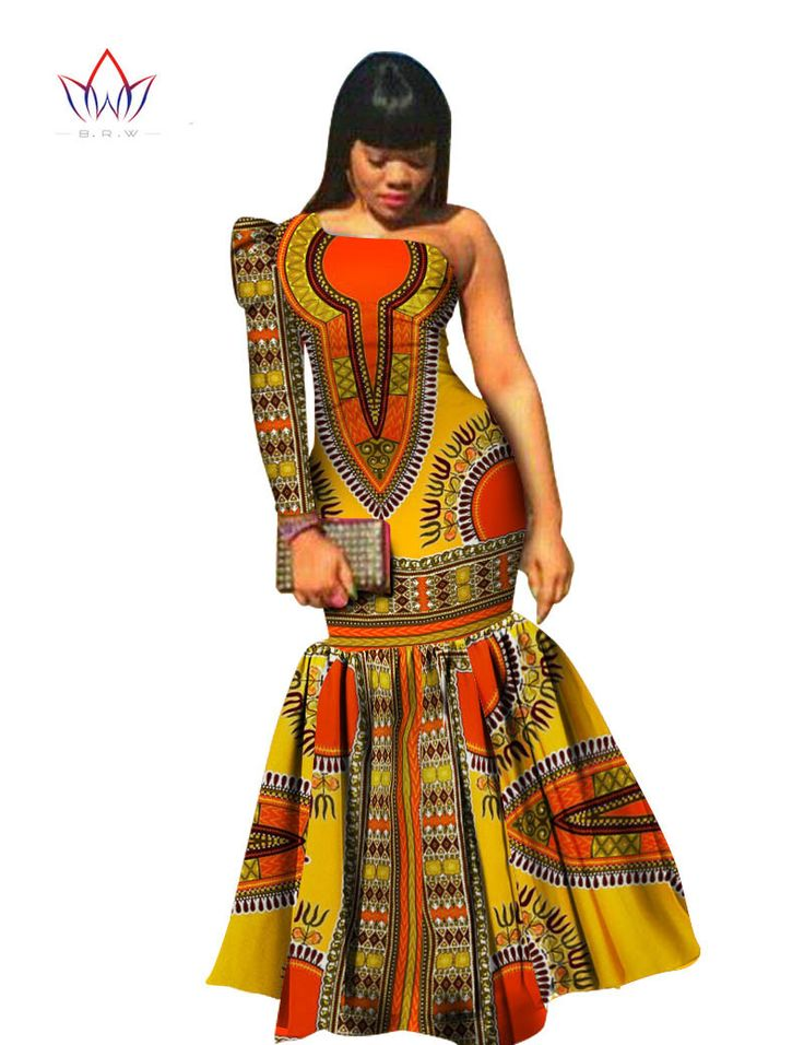 BRW Autumn African Clothes For Women Dashiki Vestidos