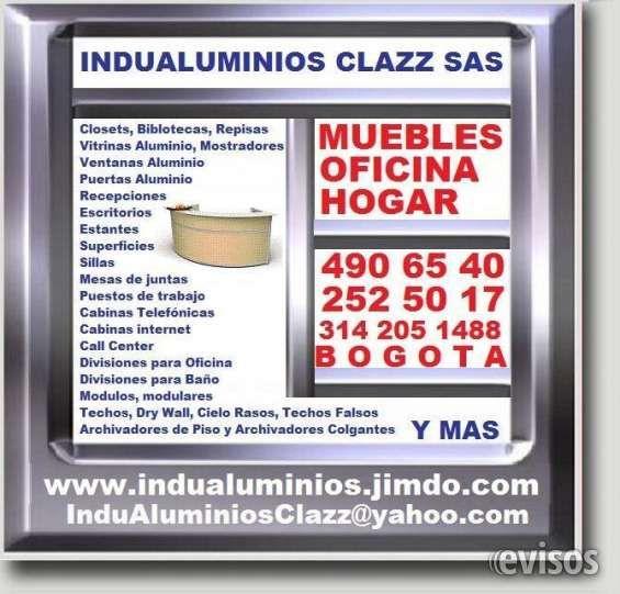 INDUALUMINIOS,  MUEBLES, OFICINA Y HOGAR.  EN MADERA, ALUMINIO, VIDRIO TEMPLADO, ACRILICO. INDUALUMINIOS,  MUEBLES, OFICINA Y HOGAR.  EN MADERA, ALUM .. http://bogota-city.evisos.com.co/indualuminios-muebles-oficina-y-hogar-en-madera-aluminio-vidrio-templado-acrilico-id-448255