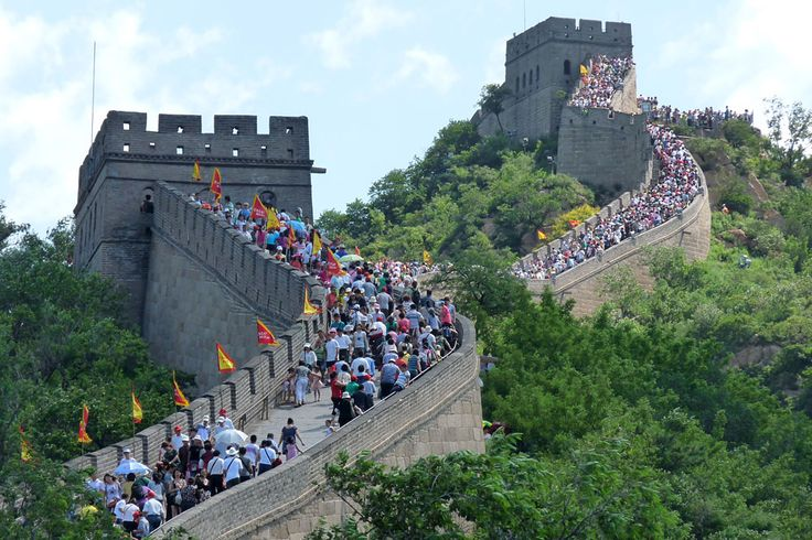 Crowds on The Great Wall at Badaling, Beijing, China