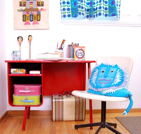 Vintage Child S Desk Red Deskkids