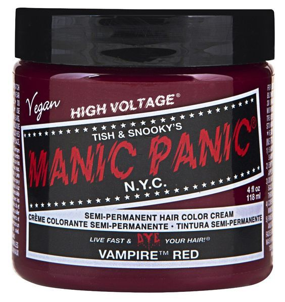 manic panic semi permament haircolor vampire red 4oz jar 6 pack - Coloration Rouge Sans Dcoloration