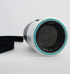 O.gle Camera is a contemporary and qualitative camera which enables the photographer to capture the moment without blocking it by a screen or a view finder.  -Design by Maya Kinarty