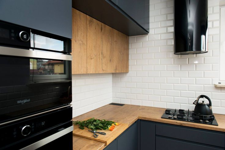 Kuchnia Grafit Biel I Drewno