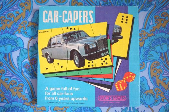 Vintage CAR CAPERS Spear's Games cards dice match by LittleToyLost