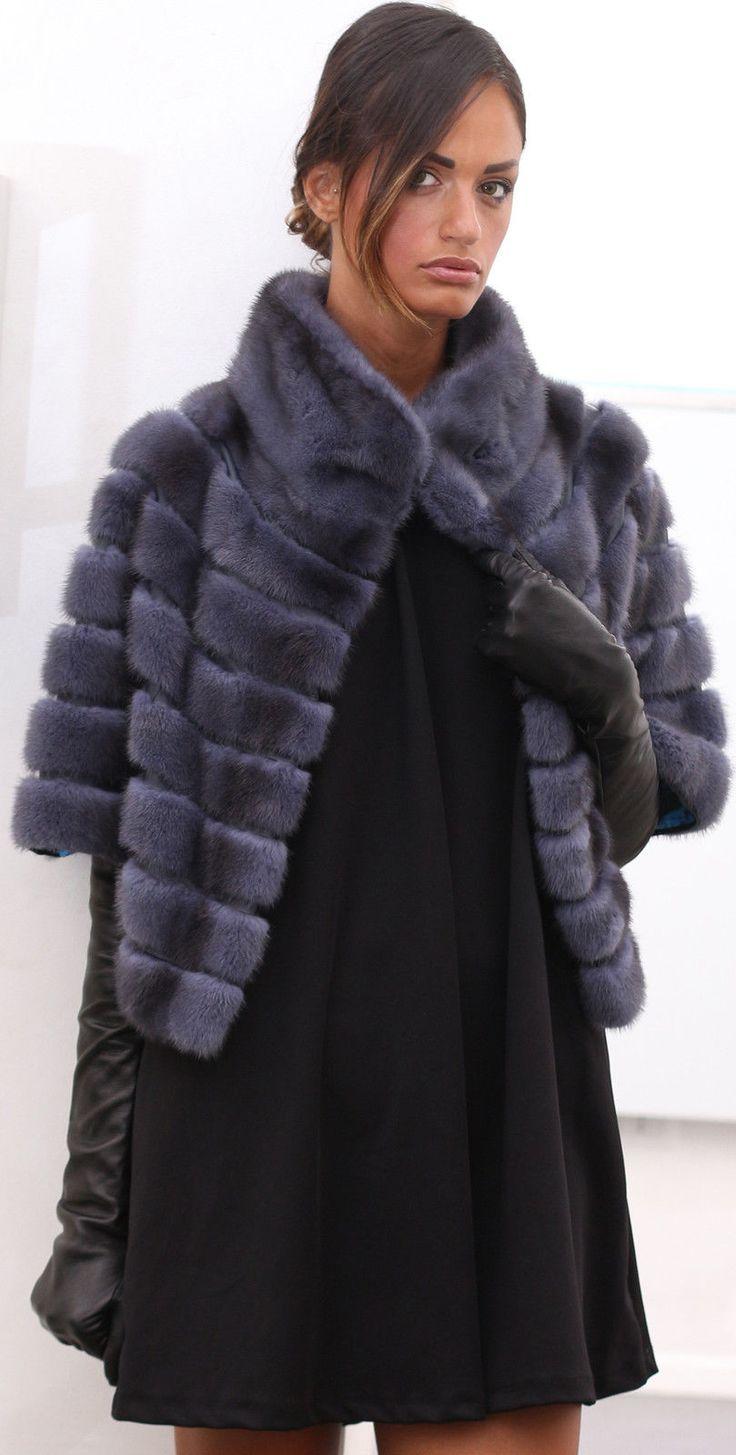 GIACCA VISONE FUR COAT PELLICCIA PELZMANTEL JACKET NERZ MINK FOURRURE MEX норки | eBay