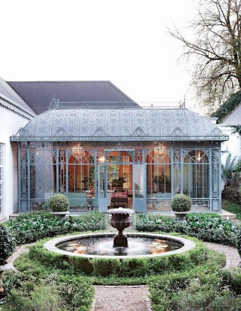 This is my VERY VERY favourite. It is a most beautiful imported  French conservatory here in a mountainous province of South Africa. I have the picture taped on my wall!!!!