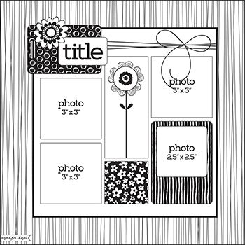 30 best 4 or More Photos Scrapbook Layout Sketches images on ...