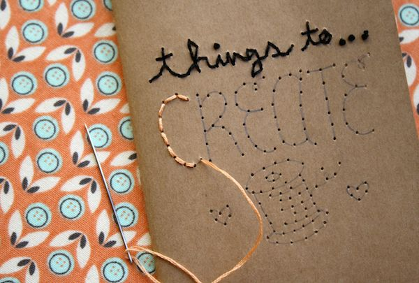 Embroidered notebooks diy craft project