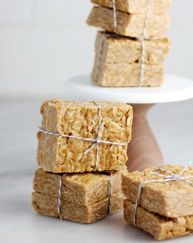 almond butter honey oat bars