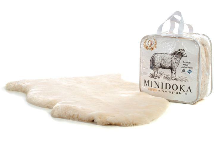 Minidoka Sheepskin, Light and creamy, Cornsilk Cream Lambskin Rug by Desert Breeze Distributing