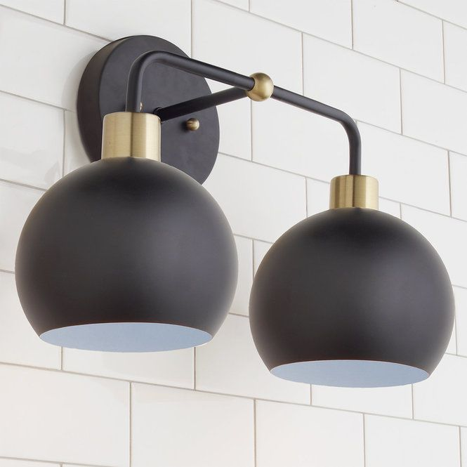 Young House Love Bubble Vanity Light 2 Light Vanity Lighting Young House Love Farmhouse Lighting