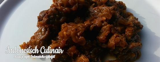 Belancang Dua - Gestoofd rundvlees in een kruidige saus - Braised beef in a spicy sauce