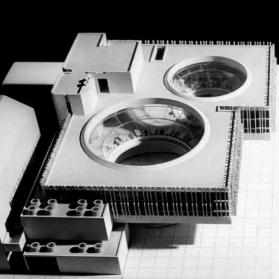 Rózsakert étterem, eszpresszó, bár, Erzsébet királyné u. 8, 1969, Az épület makettja