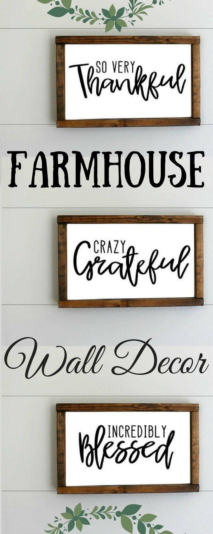 Love this farmhouse decor! home decor ideas, farmhouse, rustic, wood signs, diy, cheap, wall decor, prints, afflink