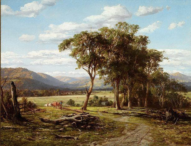 At Lilydale, (1870) by Louis Buvelot :: The Collection :: Art Gallery NSW