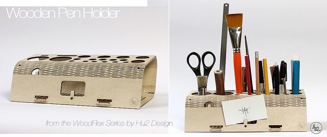 Wooden Pen Holder from WoodFlex Series by Antoine Tesquier Tedeschi | Flickr - Photo Sharing!