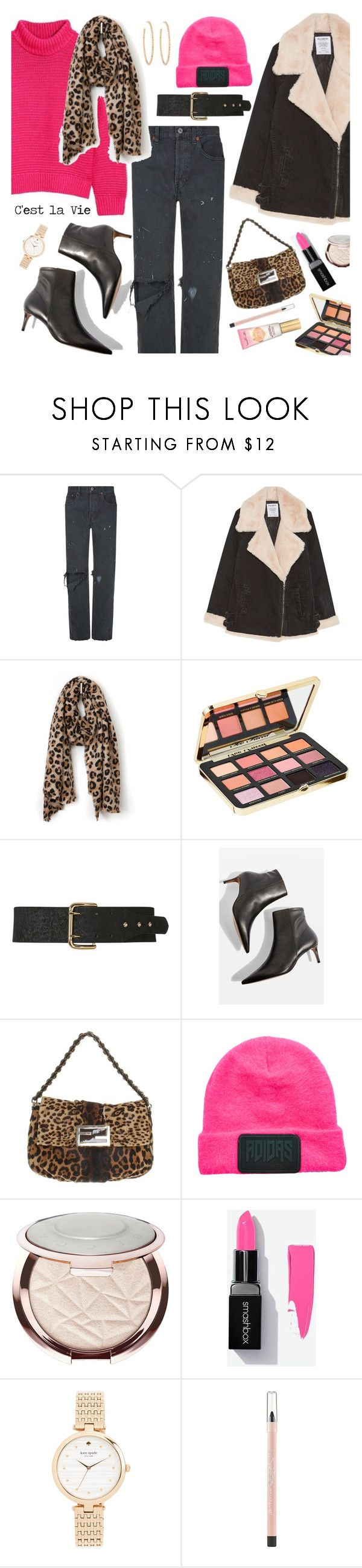 """""""C'est la Vie💋 22-1-2018"""" by anamarija00 ❤ liked on Polyvore featuring RE/DONE, Too Faced Cosmetics, B-Low the Belt, Topshop, Fendi, adidas Originals, Sephora Collection, Kate Spade, Maybelline and Berry"""