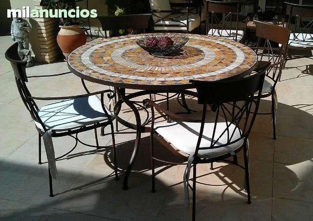 MIL ANUNCIOS.COM - Mesa de Mosaico y forja para jardin