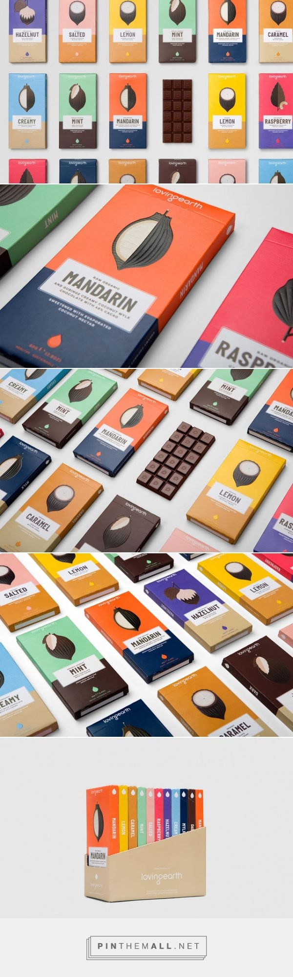 Loving Earth chocolate packaging designed by Round (Australia) - http://www.packagingoftheworld.com/2016/01/loving-earth.html