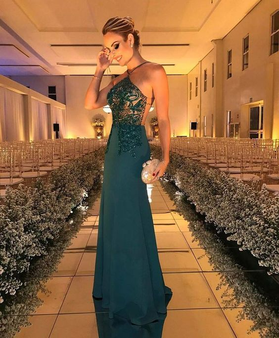 Halter Prom Dress,Beaded Prom Dress,Fashion Prom Dress,Sexy Party