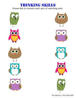 "Owl and letter ""O"" worksheets"
