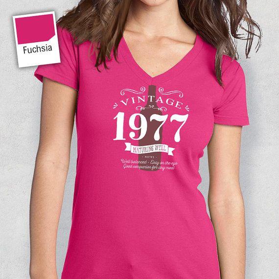 40 aniversario cumpleaños 1977 de las mujeres con por RareOccasions