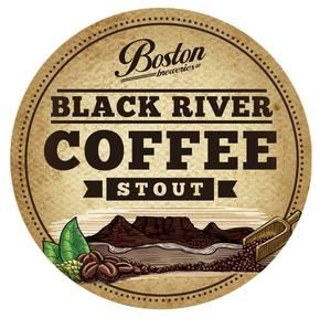 Black River Coffee Stout - Jet black with a toffee-coloured head, this is a beer for lovers of another kind of brew – a hot, caffeinated one. #BostonBreweries #CraftBeer #Stout