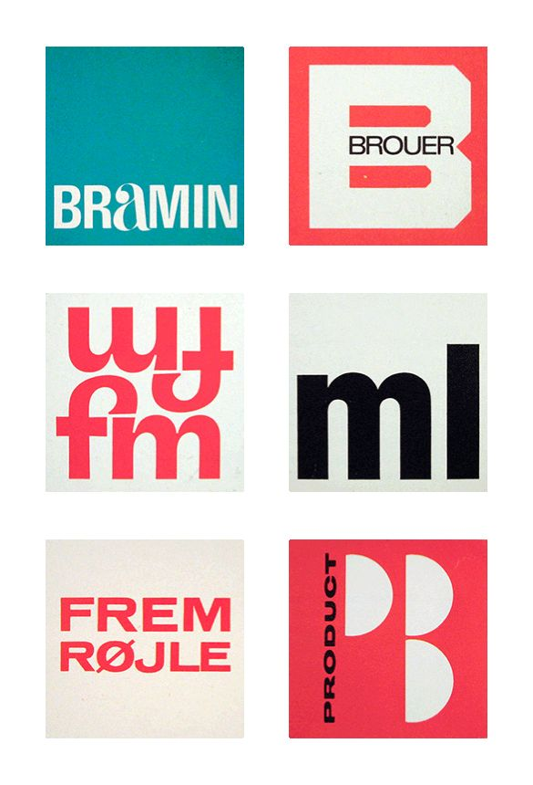 Scandinavian logos from the 60's and 70's, courtesy of Typedeck