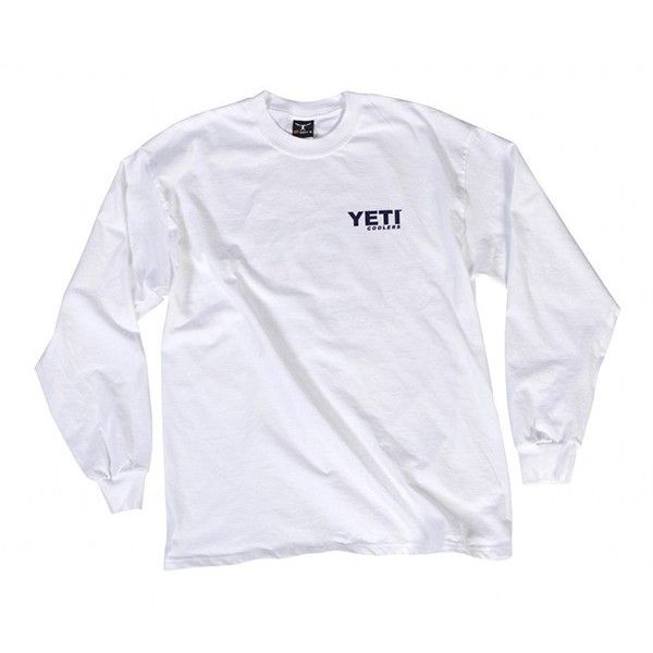 YETI Long Sleeve T-Shirt | YETI Coolers ($25) ❤ liked on Polyvore featuring tops, t-shirts, shirts, tops/outerwear, shirt tops, tee-shirt, long sleeve tees, long sleeve tops and long sleeve shirts