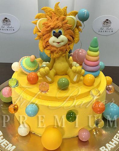 Детский торт с львенком из мультфильма - фото Fili Baker Premium