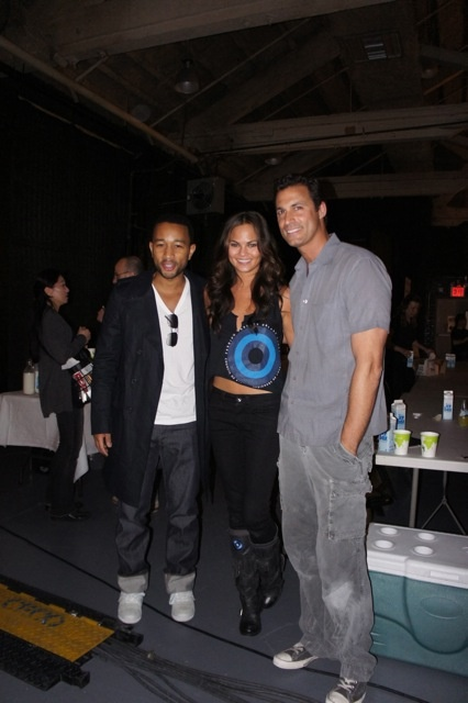Nigel Barker, Nine West Runway Relief, John Legend and Chrissy Teigen