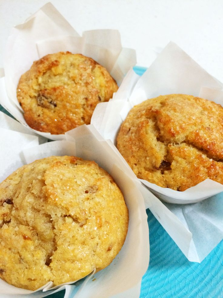 Healthy apple banana coconut date muffins
