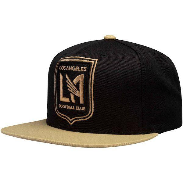 LAFC Mitchell   Ness Two-Tone XL Logo Snapback Adjustable Hat - Black Gold   LAFC 5d162d5f6140