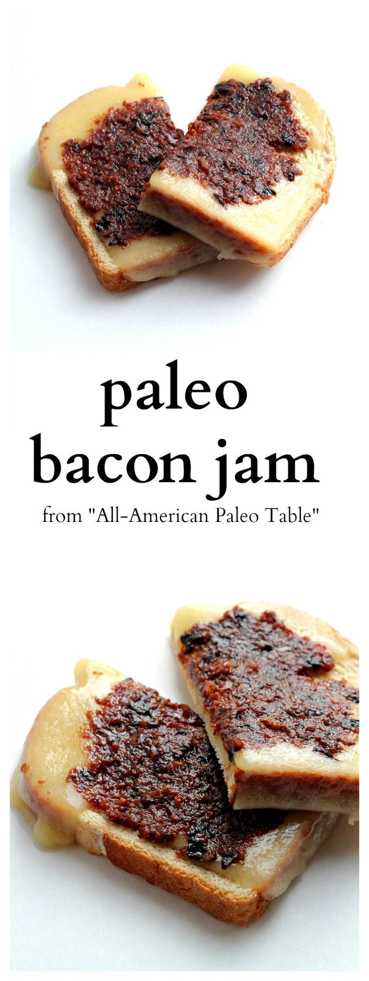 This is by far my favorite Paleo recipe. It is an Onion Bacon Jam that goes great on burgers or on a Gluten Free Grilled Cheese.