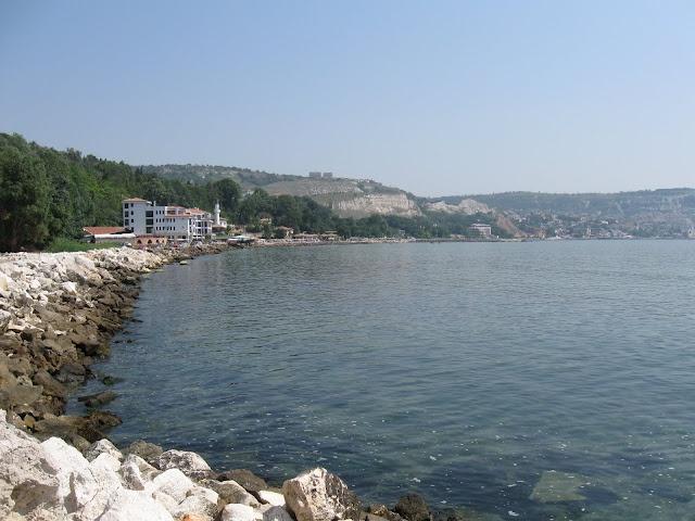 Black Seashore at Balcic, Bulgaria